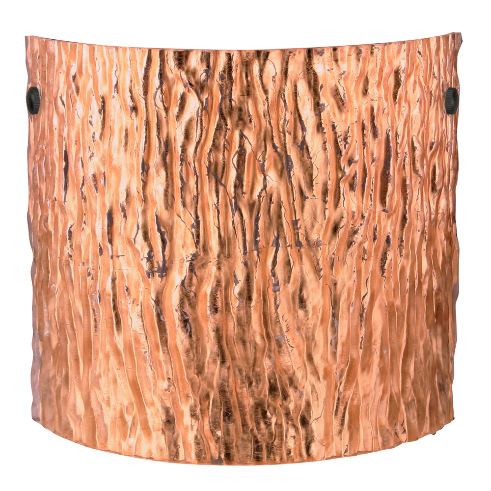 tamburo 11 wall sconce shown in black with stone copper foil glass shade by besa lighting - Besa Lighting