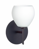 Tay Tay 1 Light Wall Sconce Vanity shown in Bronze with Opal Matte Glass Shade by Besa Lighting