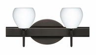 Tay Tay 2 Light Wall Sconce Vanity shown in Bronze with Opal Matte Glass Shade by Besa Lighting