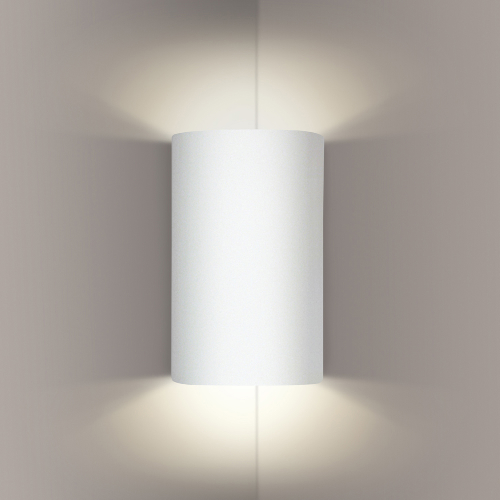 Tenos Corner Sconce 1 Light Fixture shown in Bisque by A19 Lighting - A19-203CNR