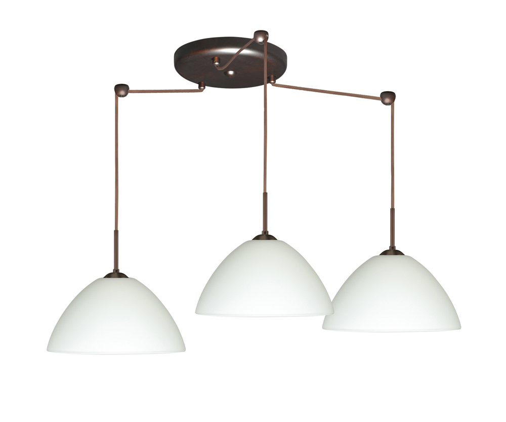 in bronze with white glass shade by besa lighting 3jc 420107 br