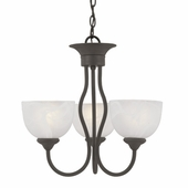 Thomas Lighting Tahoe 3-light Chandelier in Painted Bronze finish - SL801463