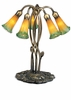Meyda Tiffany (14893) 16.5 Inch Height Amber/Green Pond Lily 5 Light Accent Lamp