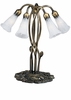Meyda Tiffany (16545) 16.5 Inch Height White Pond Lily 5 Light Accent Lamp