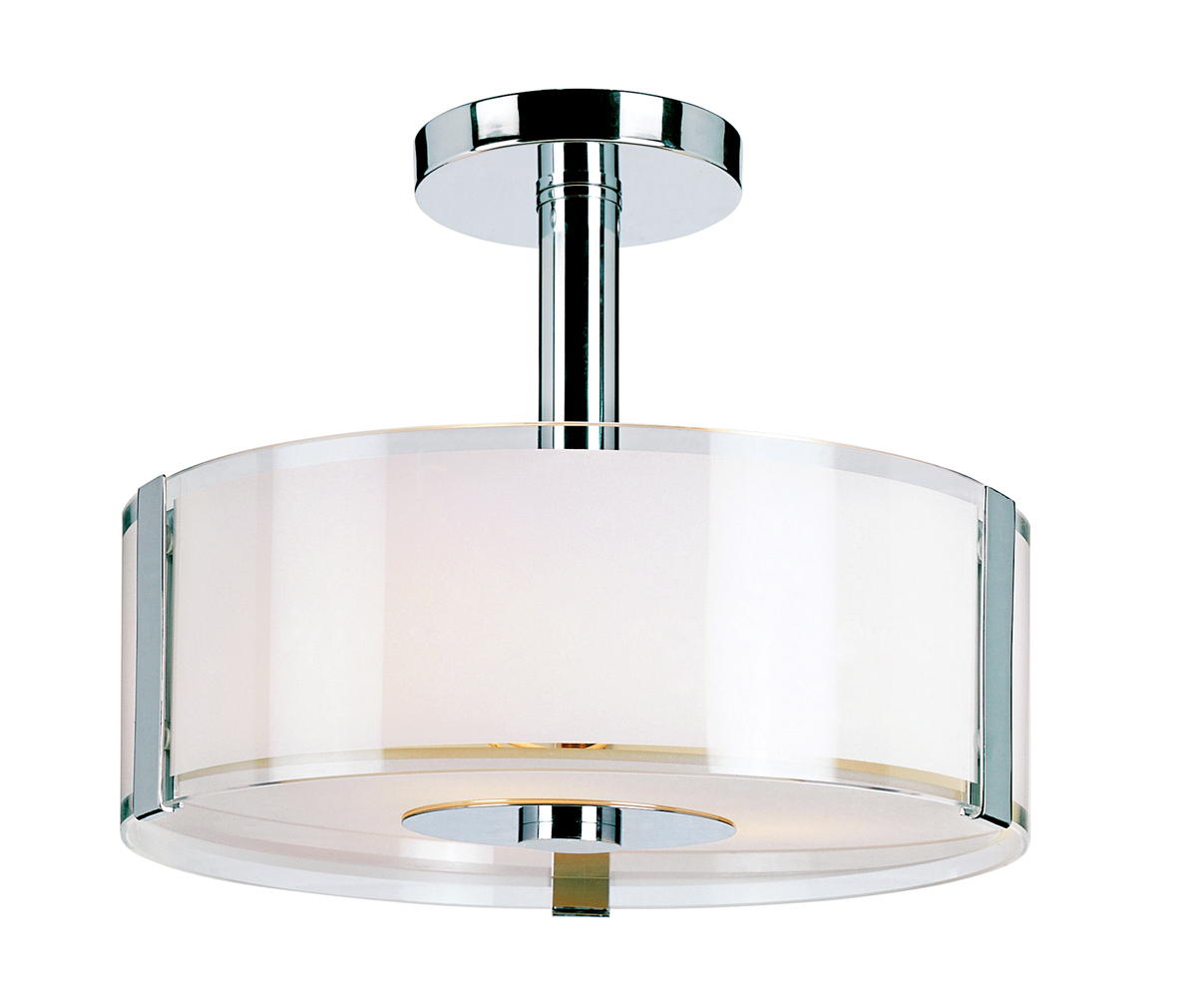 Trans Globe Lighting 2090 Contemporary Collections 3 Light Semi Flush Mount Shown In Polished