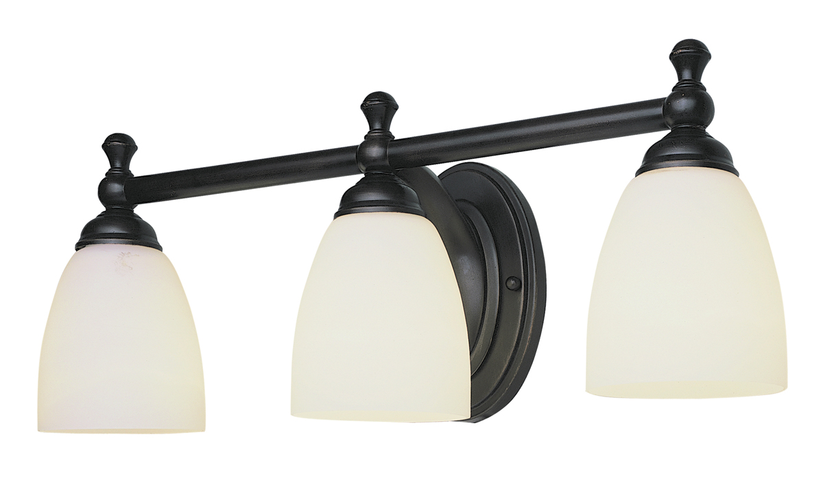 Vanity Light Fixture Globes : Trans Globe Lighting (3653) Marquess 3 Light Bathroom Vanity Fixture shown in Rubbed Oil Bronze