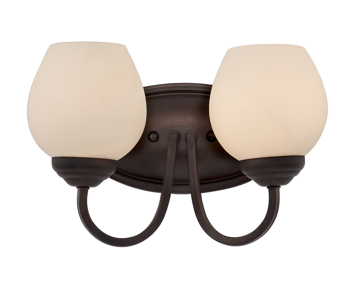 Vanity Light Fixture Globes : Trans Globe Lighting (70532) Clarissa 2 Light Bathroom Vanity Fixture shown in Rubbed Oil Bronze