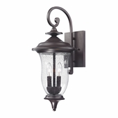 Trinity Coach Lantern Medium shown in Oil Rubbed Bronze by Cornerstone Lighting
