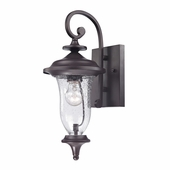 Trinity Coach Lantern Small shown in Oil Rubbed Bronze by Cornerstone Lighting