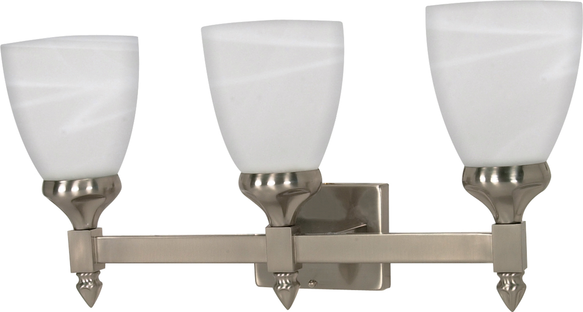 Cfl Vanity Light Bulbs : Nuvo Lighting (60-468) Triumph 3 Light CFL 21 inch Vanity, Lamps Included