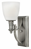 Hinkley Lighting (4020AN) Truman Single Light Wall Sconce in Antique Nickel with Etched Opal Shade