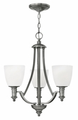 Hinkley Lighting (4023AN) Truman 3-Light Chandelier in Antique Nickel with Etched Opal Shade