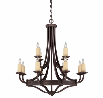 Savoy House (1-2013-12-05) Elba 12 Light Chandelier in Oiled Copper