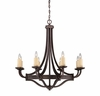 Savoy House (1-2012-8-05) Elba 8 Light Chandelier in Oiled Copper