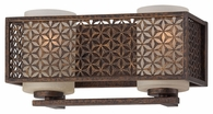Metropolitan Lighting (N2722-258) Ajourer 2 Light Bath Bar shown in French Bronze with Scavo Glass