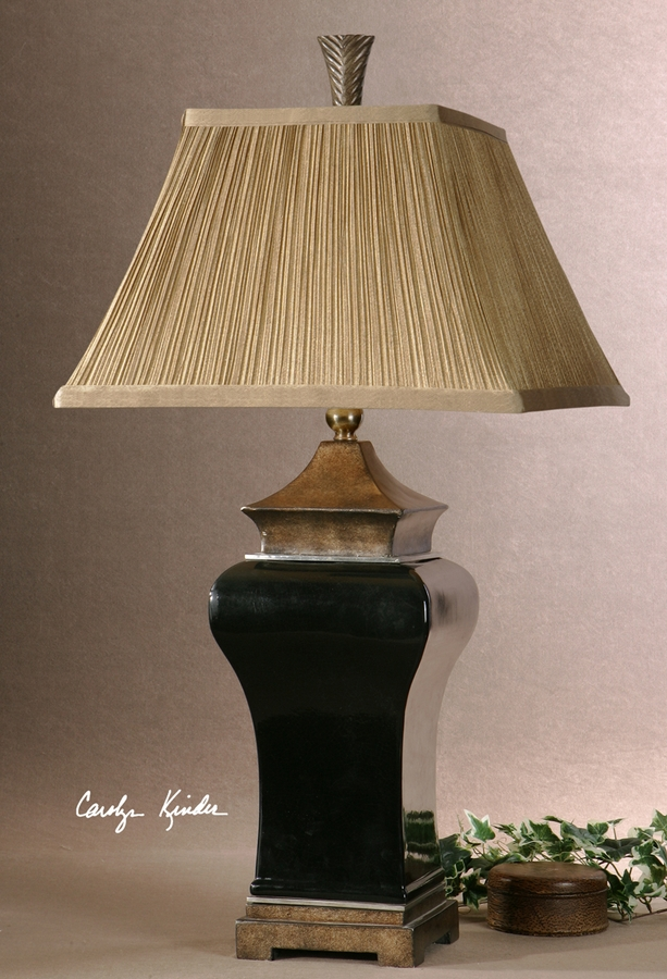 uttermost delmar black table lamp