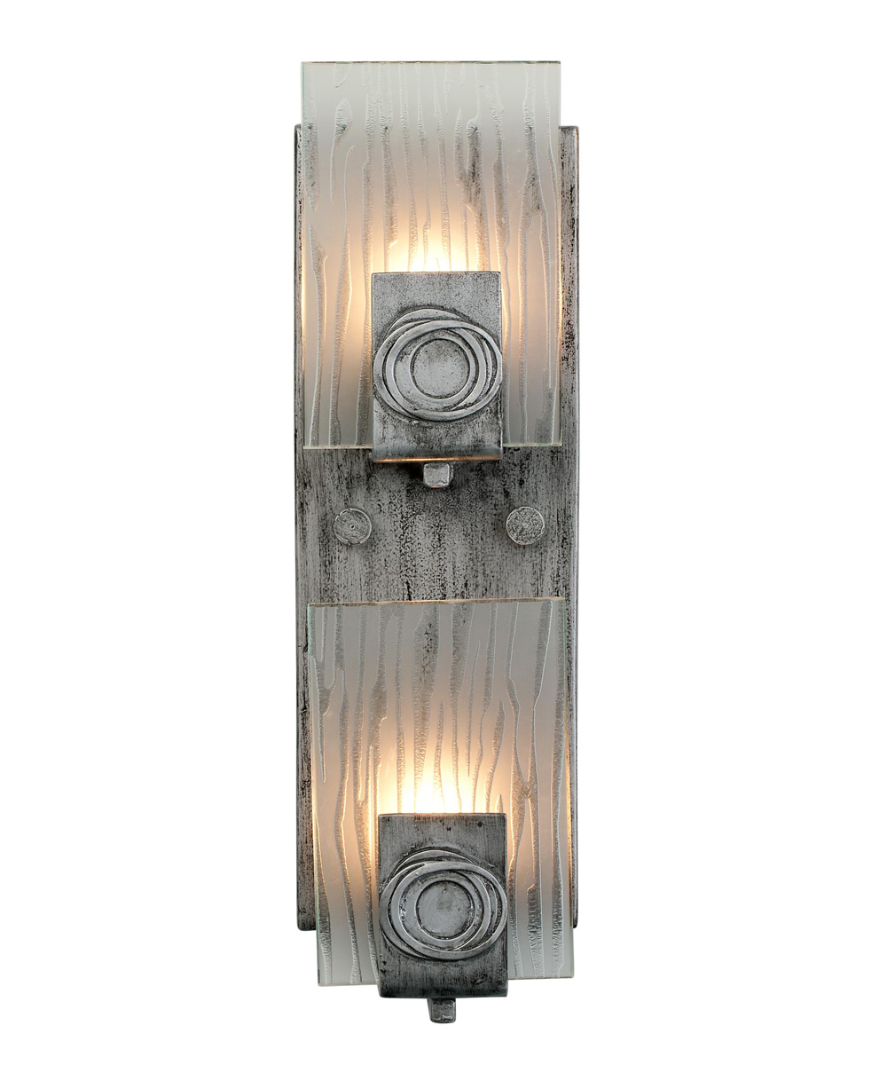 Vanity Lighting Vertical : Varaluz Lighting s Polar (182W02) Contemporary 2 Light Vertical Vanity Bath Fixture shown in ...