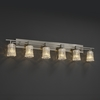 Justice Design (GLA-8706) Aero 6-Light Bath Bar from the Veneto Luce Collection