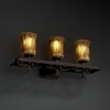 Justice Design (GLA-8563) Arcadia 3-Light Bath Bar from the Veneto Luce Collection