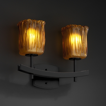 Justice design gla 8592 archway 2 light bath bar from the veneto luce collection - Justice design bathroom lighting ...