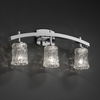 Justice Design (GLA-8593) Archway 3-Light Bath Bar from the Veneto Luce Collection