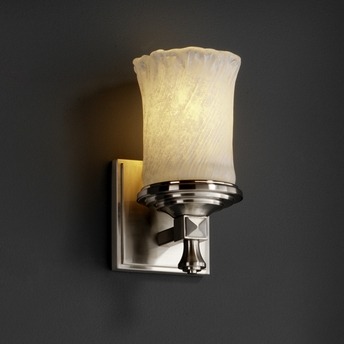 Justice Design (GLA-8531) Deco 1-Light Wall Sconce from the Veneto Luce Collection