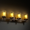 Justice Design (GLA-8534) Deco 4-Light Bath Bar from the Veneto Luce Collection