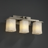 Justice Design (GLA-8673) Montana 3-Light Bath Bar from the Veneto Luce Collection