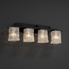 Justice Design (GLA-8674) Montana 4-Light Bath Bar from the Veneto Luce Collection