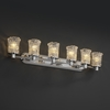 Justice Design (GLA-8516) Rondo 6-Light Bath Bar from the Veneto Luce Collection