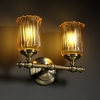 Justice Design (GLA-8522) Tradition 2-Light Bath Bar from the Veneto Luce Collection