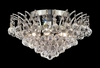 Elegant Lighting (8031F16) Victoria 6-Light 16 Inch Crystal Ceiling Mount shown in Chrome Finish