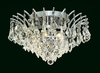 Elegant Lighting (8033F16) Victoria 6-Light 16 Inch Crystal Ceiling Mount shown in Chrome Finish