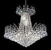 Elegant Lighting (8031D19) Victoria 8-Light 19 Inch Dining Room Crystal Fixture shown in Chrome Finish