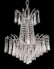 Elegant Lighting (8032D16) Victoria 4-Light 16 Inch Dining Room Crystal Fixture shown in Chrome Finish