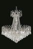 Elegant Lighting (8032D24) Victoria 11-Light 24 Inch Dining Room Crystal Fixture shown in Chrome Finish