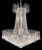 Elegant Lighting (8032D29) Victoria 16-Light 29 Inch Dining Room Crystal Fixture shown in Chrome Finish