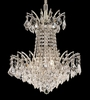 Elegant Lighting (8033D16) Victoria 4-Light 16 Inch Dining Room Crystal Fixture shown in Chrome Finish
