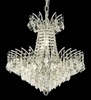 Elegant Lighting (8033D19) Victoria 8-Light 19 Inch Dining Room Crystal Fixture shown in Chrome Finish