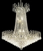 Elegant Lighting (8033D29) Victoria 16-Light 29 Inch Dining Room Crystal Fixture shown in Chrome Finish