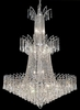 Elegant Lighting (8032G32) Victoria 18-Light 32 Inch Foyer/Hallway Crystal Fixture shown in Chrome Finish