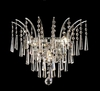 Elegant Lighting (8032W16) Victoria 3-Light 16 Inch Crystal Sconce shown in Chrome Finish