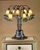 Meyda Tiffany (14357) 22 Inch Height Amber/Green Pond Lily 10 Light Table Lamp
