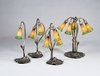Meyda Tiffany (12939) 16 Inch Height Amber/Green Pond Lily 2 Light Accent Lamp