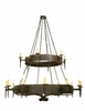 Meyda Tiffany (112829) 72 Inch Width Warwick 18 Light Two Tier Chandelier