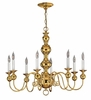 Hinkley Lighting (5128PB) Virginian 8-Light Chandelier in Polished Brass with Optional shade 5122BK Shade