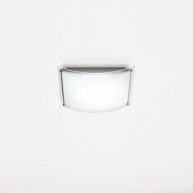 Contemporary Flush Wall Lights : Zaneen Contemporary Vision Flush Mount / Wall Sconce In Chrome-Aluminum Made In Italy - D1-2001