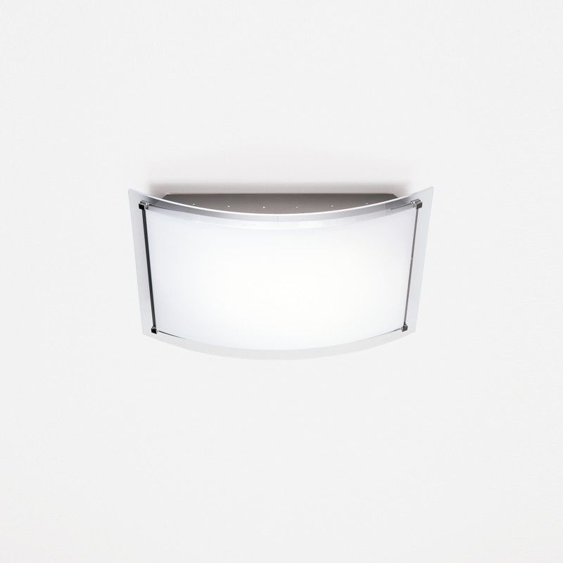 Contemporary Flush Wall Lights : Zaneen Contemporary Vision Flush Mount / Wall Sconce In Chrome-Aluminum Made In Italy - D1-2002