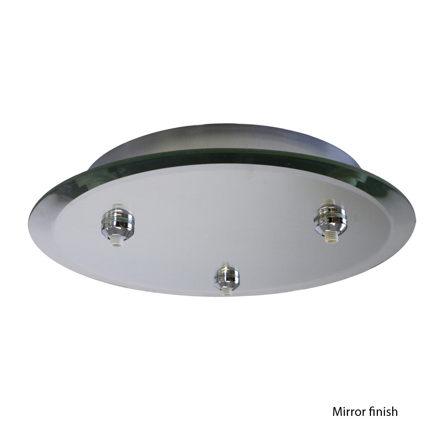 WAC Lighting (QMP-G3RN) Multipoint Quick Connect Round Glass Mirror Canopy