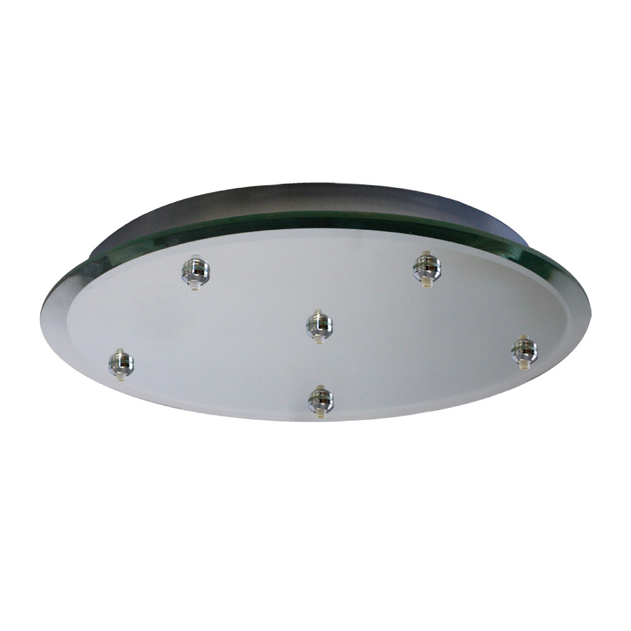 WAC Lighting (QMP-G6RN) 6-Point Quick Connect Glass Mirror Canopy